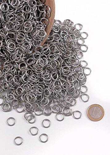 Bau Kostüm Frauen - Kettenringe, 3 kg-Paket ca. 6000 Ringe verzinkt 9mm ID Kettenhaube Kettenhemd selber machen