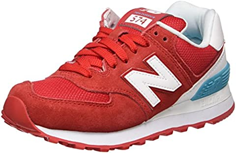 New Balance Damen 574 Suede Sneakers, Rot (Red), 41 EU