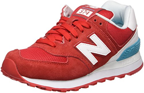 new-balance-574-suede-sneakers-basses-femme-rouge-red-38-eu