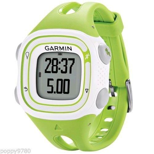 nouveau-gps-garmin-forerunner-10-sport-courir-montre-avec-virtual-pacer-blanc-vert-emballage-non-com