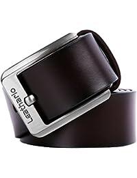 Leathario ceinture en cuir homme ceintures cuir pour hommes ceintures de  boucles fixation de aiguille 412ad3cb4f8