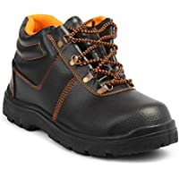 Neosafe Spark A5005 PVC Labour Safety Shoes, Size 6, Black