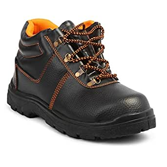 Neosafe Spark A5005 PVC Labour Safety Shoes, Size 8, Black