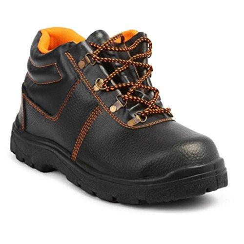 Neosafe Spark A5005 PVC Safety Shoes, Size 8, Black