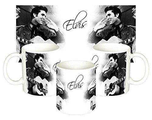 Elvis Presley Porzellanbecher in Präsentationsbox Tee Kaffeetasse Geschenkidee