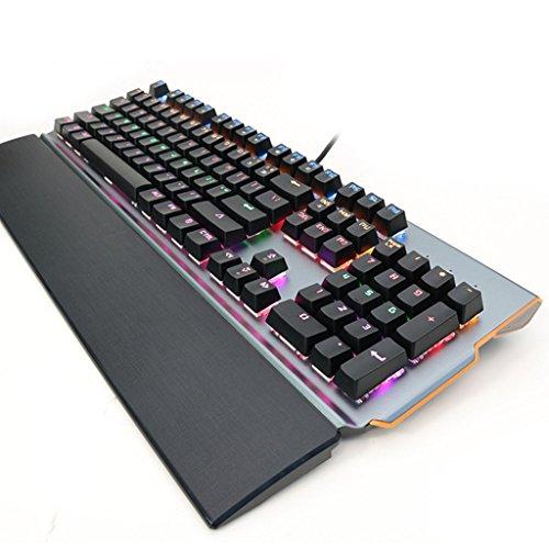 ZSY Hohe Qualität Mechanische Gaming-Tastatur Grüne Achse Computer-Kabel USB-Stecker Spiel Tastatur Schwarz, Eine Tastatur, Die Achse Autonom Ersetzt Werden Kann.