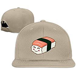 yhsuk kawaii Sushi Unisex Fashion Cool Adjustable Snapback Gorra de béisbol tiene One Size Natural