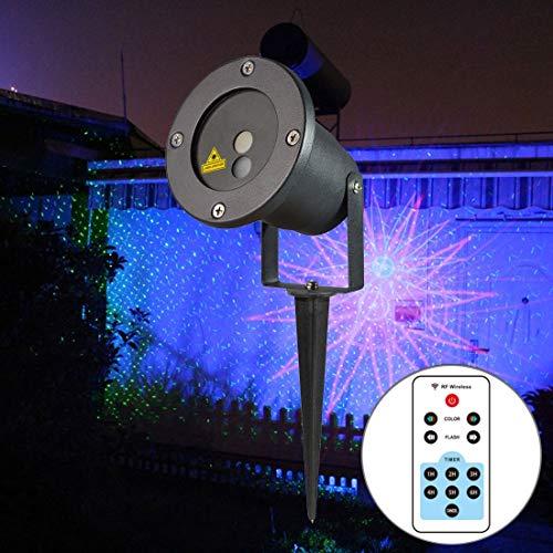 Neue Art und Weise im Freienlicht 5W ODB-08 Leben wasserdicht 8 in 1 Muster Outdoor Rasen Hof Garten dekorative Beamerlampe mit Fernbedienung