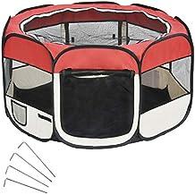 Wellhome 8 Paneles Parque de Juegos para Mascotas Perros Gatos Entrenamiento Dormitorio Oxford 125 x 64cm