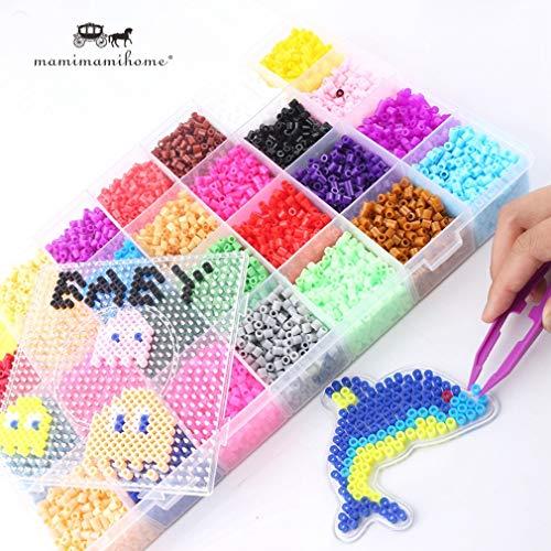 Baby Spielzeug 5mm Perler Perlen 28 Farben 18000pcs Box Set (3 Vorlage + 5 Eisen Papiere + 2tweezers) Sicherung/hama Perlen Diy Pädagogisches Spielzeug Geschenk