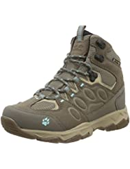 Jack Wolfskin Mtn Attack 5 Texapore Mid W, Zapatos de High Rise Senderismo Para Mujer, Beige (Icy Water 1044), 41 EU