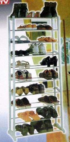 Regal, Schuhregal, klappbar, bis 30 Paar, 10 Etagen FSR01
