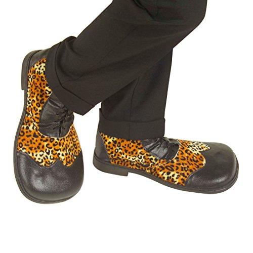 NET TOYS Leoparden Clownschuhe Leo Partyschuhe Clownsschuhe Party Schuhe Clown