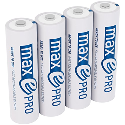 ANSMANN Mignon Akku AA 1,2V min. 1900mAh inkl. Akkubox - NiMH AA Akkus über 2100-mal wiederaufladbar - wiederaufladbare Batterien AA maxE Pro für geringere Selbstentladung - Akku Batterien 4 Stück