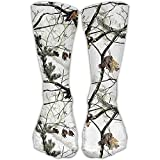 Funny&shirt White Realtree Camo Casual Socks Crew Socks Ankle Socks Athletic Sock Fits All Adult For Travel Sports 19.68 Inches
