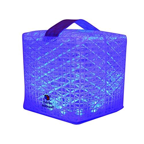 Solight Design Merlin solarpuff Tragbares Kompakt LED Solar Laterne, Farbe wechselnden–Rot/Grün/Blau/Gelb/Weiß/Violett (merlinpuff1a)
