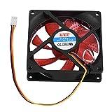 Aramox Ventilador Torre CPU Compacto y Silencios de 90 mm Refrigerador CPU multicompatible con Ventilador(Red)