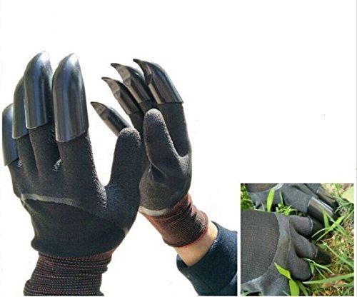 FuXing Gants de Jardin avec Des Griffes, Gant de Jardinage Outil Rapide et Facile à Creuser et à Planter des Plantes de Pépinière, Meilleur Cadeau Pour le Jardinier