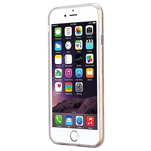 SMART LEGEND iPhone 6 Plus iPhone 6S Plus Weiche Silikon Hülle Bumper Schutzhülle Transparent Hülle mit Mandala Blumen Muster Handyhülle Crystal Schutzhülle Kirstall Clear Etui Ultra Slim Durchsichtig Lila Rosa
