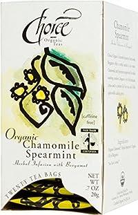 Choice Organic Chamomile Spearmint Tea with Bergamot, 20 Count Box