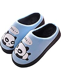 Gaatpot Donne Uomo Warm Cotone Pantofole Carine Panda Pantofole Ragazzi Ragazze Interni Antiscivolo Pantofole Scarpe di Cotone Slipper