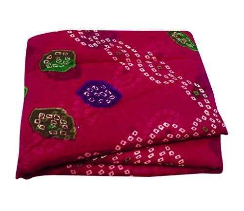 Indianer-muster-krawatte (Indische Traditionelle Neue Bandhani Saree Ethnischen Partei Tragen Ethnischen Frauen Kleid 5 Yd)