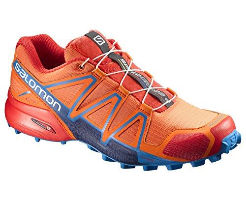Salomon Speedcross 4, Zapatillas de Running Para Asfalto Para Hombre, Multicolor (Scarlet Ibis/Hawaiian Sury/Fiery Red), 43 1/3 EU