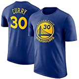 Maglietta Casual Girocollo NBA Warriors T-shirt Maglietta Sportiva Sportswear Tops