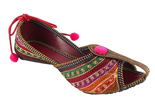 Shree Women's Synthetic Red Bellies - 6