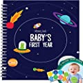 MEMORY BOOK + STICKERS - Unconditional Rosie Baby Boy's First Year Record Book With 12 Milestone Stickers Included by Unconditional Rosie