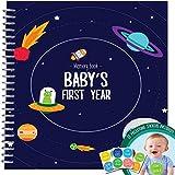 Memoria Libro + pegatinas–incondicional Rosie–Libro de registro de primer año del bebé con 12hito pegatinas.