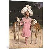 """Cuadro en lienzo: Jan van Beers """"Alice Antoinette de la Mar, aged five"""" - Impresión artística de alta calidad, lienzo en bastidor, 85x100 cm"""