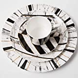 YYHWCFW Servizio Cena Piatti Set di Piatti in Marmo Set di Piatti in Ceramica Set di Posate Piatto