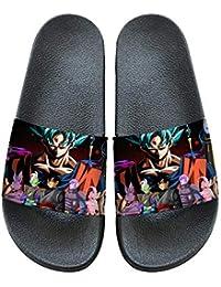 Romenoir Dragon Ball Zapatillas Resbalón-en casa de Interior de los Deslizadores de vanguardia Unas Zapatillas de baño for niños y niñas de Verano