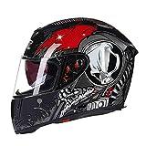 LL Motorrad Full Helm Doppel-Visor Full Face Motorbike Outdoor Männer und Frauen,3,L