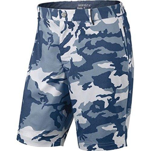 Nike Modern Fit Print Herren Shorts, Herren, Blau/Grau, 28 (Golf-print-shorts)