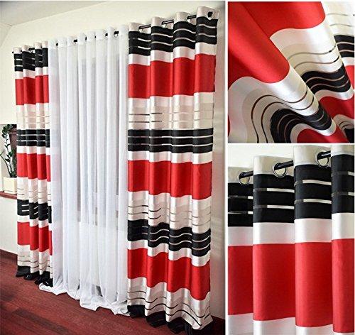 rideaux noir et rouge le classement des meilleurs d 39 octobre 2018 zabeo. Black Bedroom Furniture Sets. Home Design Ideas