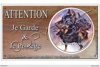 Panneau chien ou plaque Berger-de-Beauce-01 20 cm