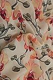#7: 2.5 meter Crepe Fabric. Digital Print Fabric, Cloth Material Fabric, Purple and Green Floral Printed Digital Print Fabric