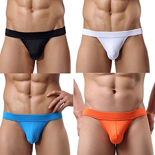 Adorneve Herren Unterwäsche Einfache Atmungsaktive 4er Slips