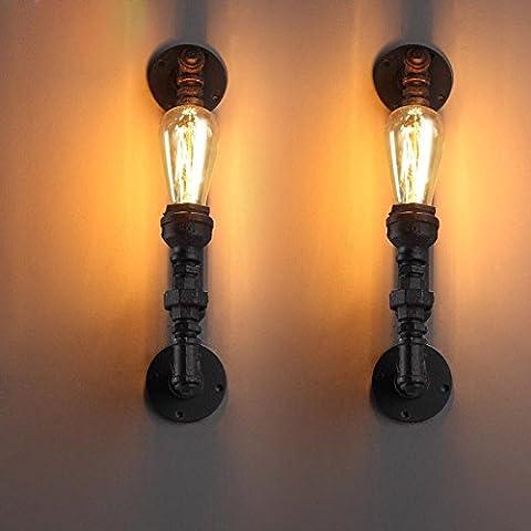 XUEQIANG Vintage lámpara LED lámpara de pared del dormitorio, la cabeza de la cama Hotel Habitación Corredor lámpara de pared de ingeniería