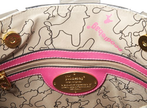 Poodlebags  Funkyline - Exotic Remix - Darling Plum - pink snake, shoppers femme Multicolore - Mehrfarbig (pink snake)