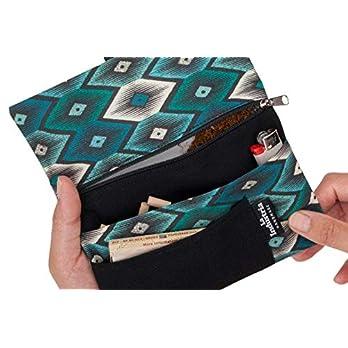 Tabaktasche Drehertasche Stoff – Tabakbeutel mit Fächern für Filter, Papier und Feuerzeug