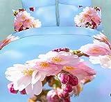 ZHUDJ Liebe Dich Home Textile 3D-Baumwolle Vier Stücke aus Baumwolle Twill Betten Persönlichkeit Quilt, Leere Liebe, 2,0 M (6,6 Fuß) Bed