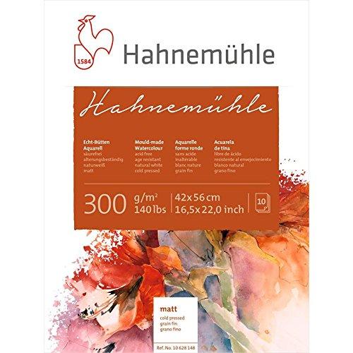 Aquarellblock Hahnemühle' matt, 300g/m², 42x56cm, 10Blatt'