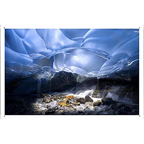 Metallo Poster Targa in metallo Piastra #22711 Inside Mendenhall Glacier Alaska Retro Vintage parete Décor by hamgaacaan (20x30cm)