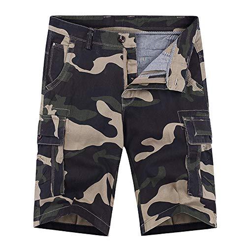 Aiserkly Herren Multi-Pocket Camouflage Cargo Short Freizeithose Kampfhose Kurze Hosen Sommer