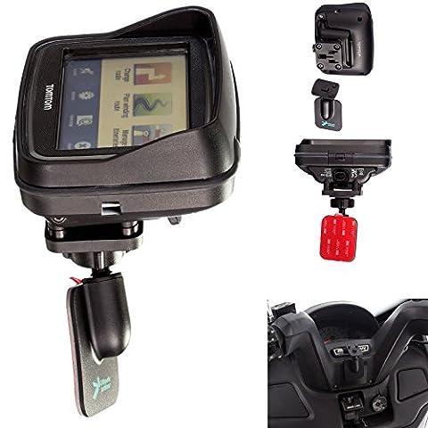 ® UltimateAddons Support de moto avec adaptateur 3 m Adhésif pour Tomtom Rider v5 Active Dock