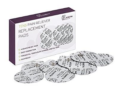 Kinetik Wellbeing TENS Pain Reliever Adhesive Gel Pads - Pack of 4
