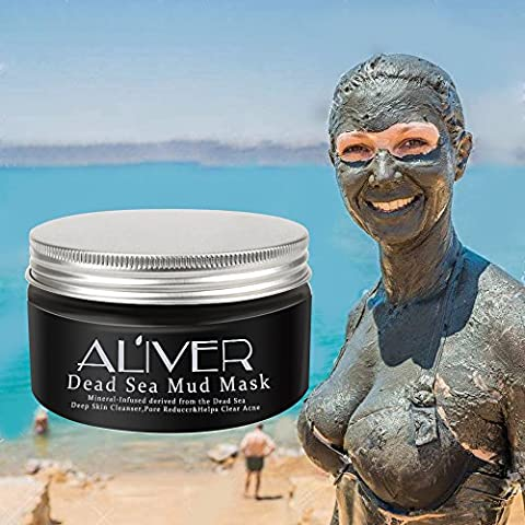 Aliver® Dead Sea Mud Mask - for Face, Body & Hair - 100% Natural and Organic Deep Skin Cleanser - Face Mask Clears Acne, Reduces Pores and